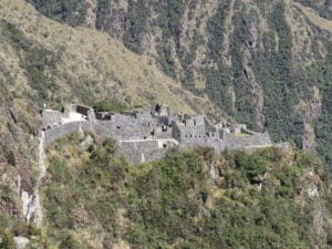 One of the Many Sites on the Inca Trail to Machu PIcchu
