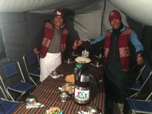 The Meal Tent on the Inca Trail