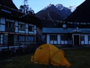Camping in Khote on the Mera Peak Trail