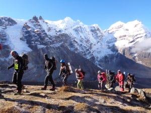 Hiking in to Mera Peak