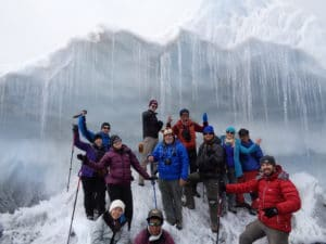 Ice Fall on Everest Base Camp