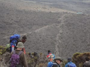 Looking Towards Karanga Camp on Kilimanjaro