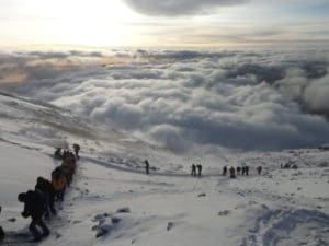 Heading to the Summit of Kilimanjaro