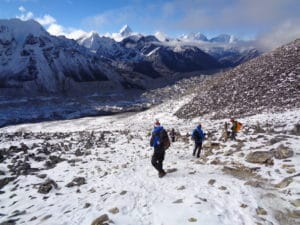 Snow on the Trail from Kala Patthar