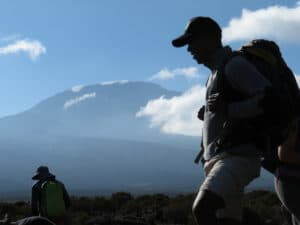 Athumani with Kilimanjaro in the Background