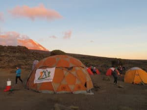 Our Mess Tent on Kilimanjaro for your Comfort!