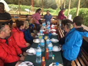 The First Lunch on The Mountain on Kilimanjaro