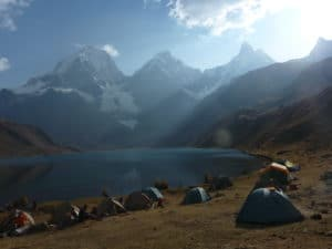 Lake in the Huayhuash region.
