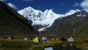 Mountain scenery in the Huayhuash region of Peru