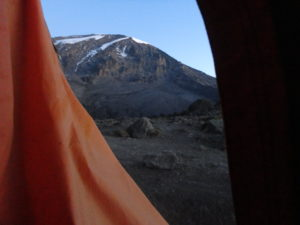 View of Kilimanjaro from the Tent