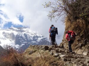 The final steps before reaching Namche
