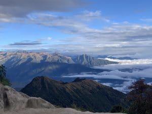 High above Machu Picchu