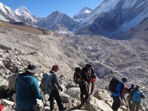 The Khumbu Glacier near Gorak Shep