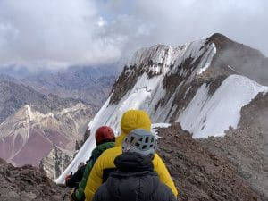 After the summit of Aconcagua
