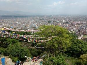 Swayambhunath Stupa or the Monkey Temple in Kathmandu