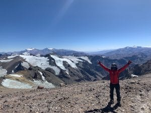 Excited to arrive at Camp 2 on Aconcagua
