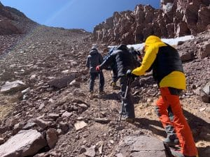The Canaleta on Aconcagua