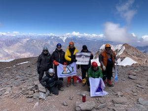 The top of Aconcagua