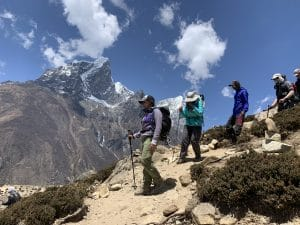 Acclimatization training from Dingbouche