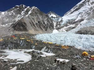 The view of Everest Base Camp