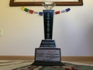 The trophy in our US offfice