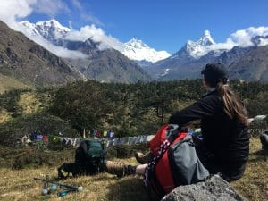 Looking at Mount Everest