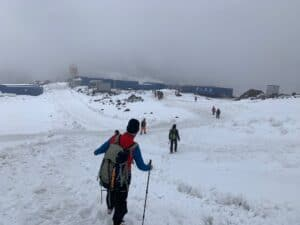 The huts at 3,900m