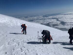 Break time on Mount Elbrus
