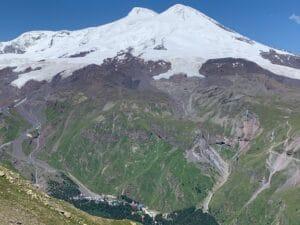 Looking across at Mount Elbrus