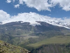 Looking at Mount Elbrus from the North