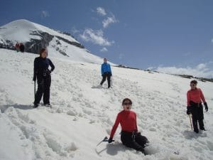 Mountaineering training for Mont Blanc