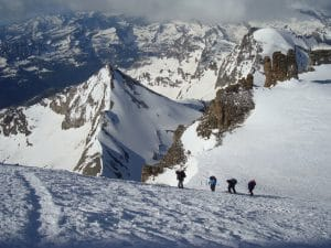 On the way to the summit of Gran Paradiso