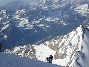 Climbing on Gran Paradiso
