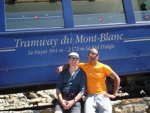 On the way up Mont Blanc