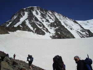 You can see the route to the Gouter Hut