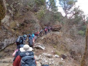 Trekking to Monjo in Nepal