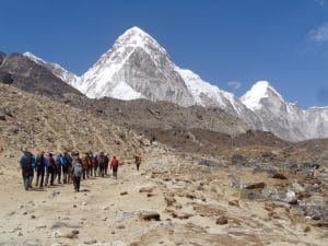 A view of Pumori near Mount Everest
