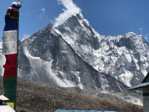 The view of Ama Dablam from Chuckung