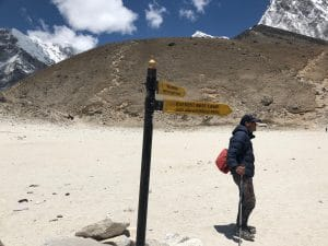 The sign for Everest Base Camp