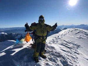 The summit of Himlung Peak