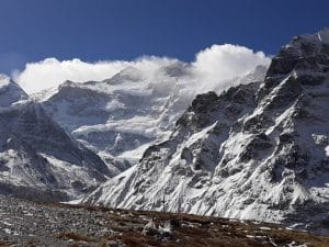 Close up with Kanchenjunga