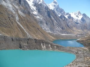 three lakes, siula, queshiyacocha