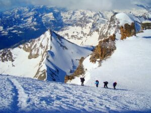 Moving towards the summit of Gran Paradiso