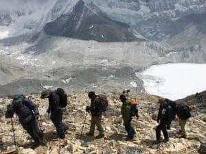 Moving to Island Peak High Camp