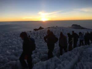 The Crater Rim on Kilimanjaro