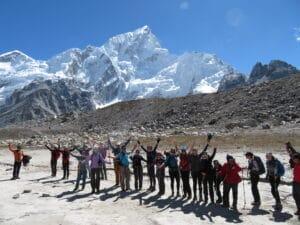 Nuptse peak above Everest Base Camp