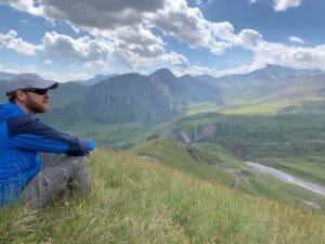 Enjoying the view of Mount Elbrus