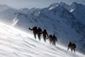 High winds on Mount Elbrus