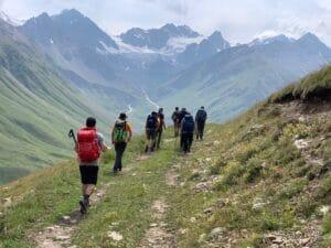 The eastern side of Mount Elbrus