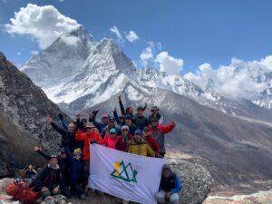 Ian Taylor Trekking team on the way to Island Peak